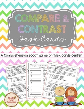 Compare and Contrast Task Cards or Scoot Game