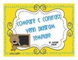 Compare and Contrast Venn Diagram Template/Master