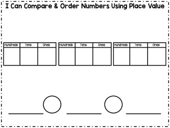 Compare and Order Numbers Workmat
