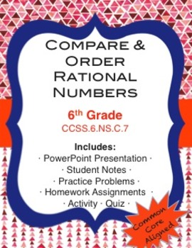 Compare and Order Rational Numbers - Lesson Pack {6th Grad
