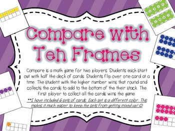 Compare with Ten Frame Cards