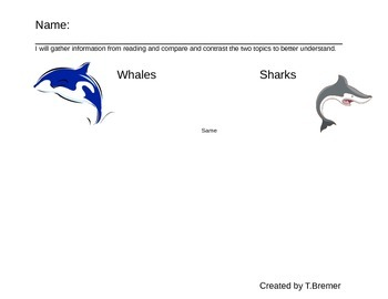 Compare/Contrast Whales and Sharks