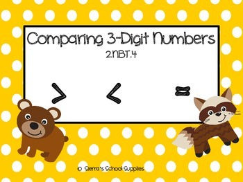 Comparing 3-Digit Numbers 2.NBT.4