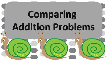 Comparing Addition Problem Task Cards