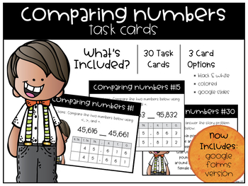 Comparing BIG Numbers Task Cards
