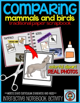 COMPARING Mammals and Birds: Elementary Interactive Notebo