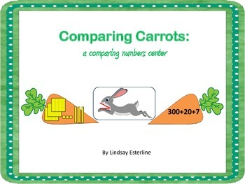 Comparing Carrots: a comparing numbers activity