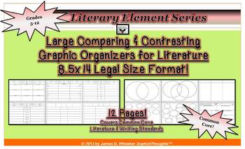 Comparing & Contrasting Literature Large 8.5x14 Graphic Or