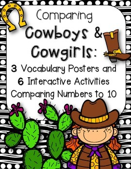 Comparing Cowboys & Cowgirls:6 Interactive Activities Comp