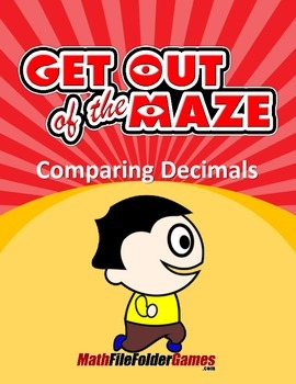 Comparing Decimals - Fun Decimal Worksheets/Mazes (MINI BUNDLE)
