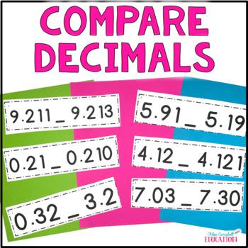 Comparing Decimals Differentiated Activity