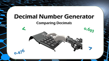 Comparing Decimals Number Generator