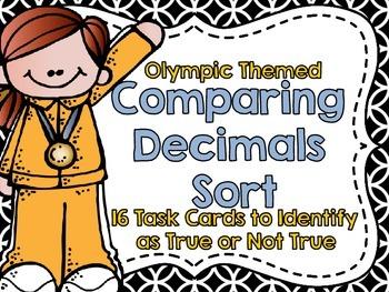 Comparing Decimals Sort-Olympic Theme