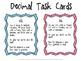 Comparing Decimals Task Cards 4.NF.7