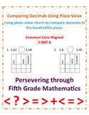 Comparing Decimals Using Place Value