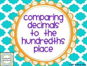 Comparing Decimals to the Hundredths Place PowerPoint