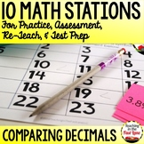 Comparing Decimals to the Thousandths Test Prep Math Stations