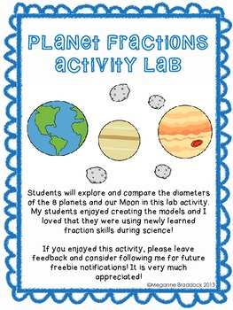 Comparing Diameters of Planets: A Fraction Lab