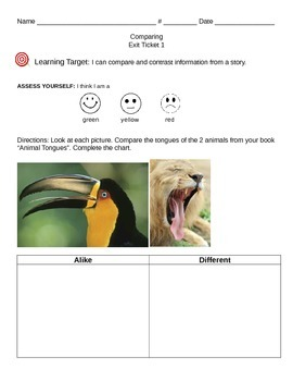 """Comparing Formative Assessment """"Animal Tongues"""""""