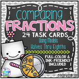 Comparing Fractions Task Cards Color & Ink-Friendly