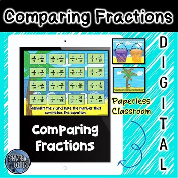 Comparing Fractions Interactive Practice for Google Classroom