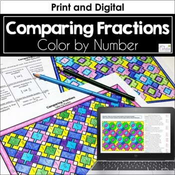 Comparing Fractions Color by Number