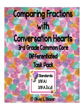 Comparing Fractions Conversation Hearts Differentiated Tas