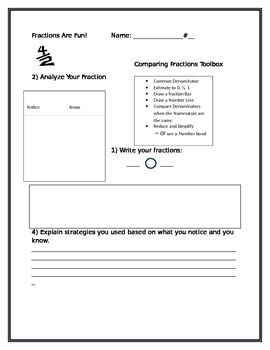 Read:Draw:Write~Comparing Fractions:Toolbox of Strategies