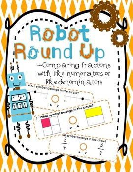 Comparing Fractions Game Robot Round Up