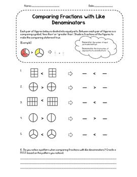 Comparing Fractions: Like Denominators