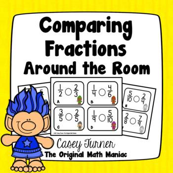 Comparing Fractions {Like & Unlike Denominators} Around the Room