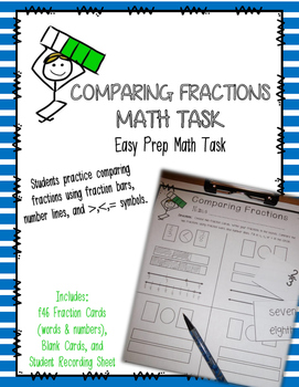 Comparing Fractions Math Task