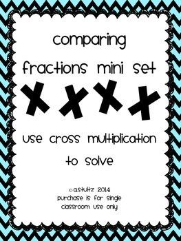 Comparing Fractions Mini-Task Card Set