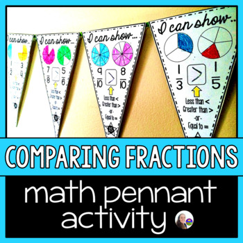Comparing Fraction Size Pennant