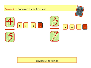 Comparing Fractions (Quick Math Review and Handout)