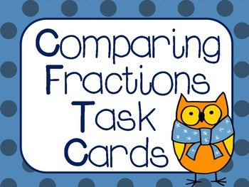 Comparing Fractions Task Cards:  Common Core Aligned 3.NF.