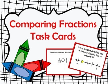 Comparing Fractions Task Cards { Math Center }