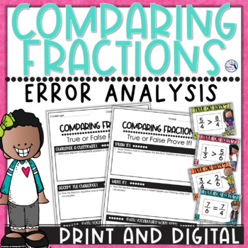 Comparing Fractions True or False Prove It Task Cards
