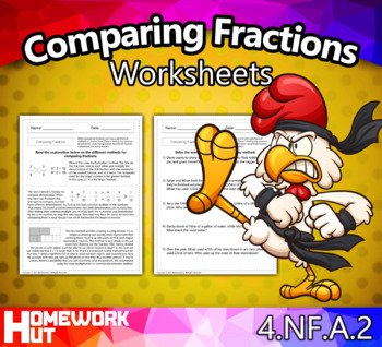 4.NF.2 - Comparing Fractions Worksheets