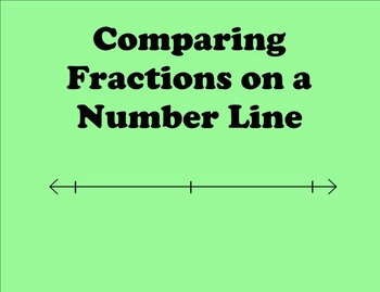 Comparing Fractions on a Number Line - CCLS