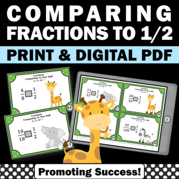 Comparing Fractions 4th Grade Common Core Math Task Cards