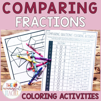 Comparing Fractions (unlike denominators) Coloring Activity