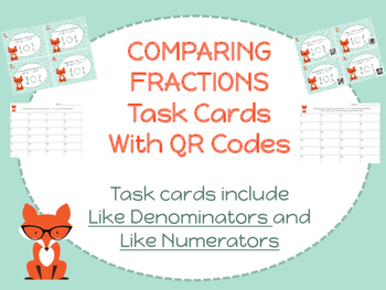 Comparing Fractions with Like Numerators & Denominators Ta
