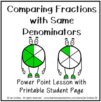 Comparing Fractions with Same Denominator Power Point