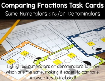 Comparing Fractions with the Same Numerator or Denominator