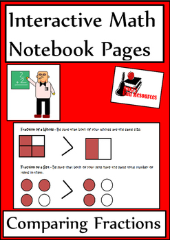 Comparing Fractions Lesson for Interactive Math Notebooks