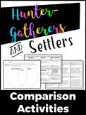 Early Man (Hunter-gatherers and settlers) Comparison Activities