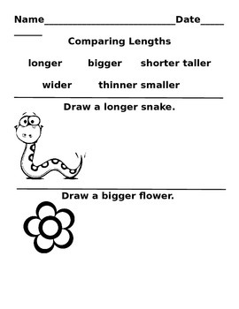 Comparing Lengths Book