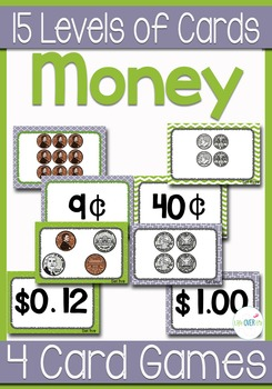 Comparing Money Values Card Games & Centers War, Memory, S