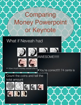 Comparing Money (Zip File that has PowerPoint and Keynote)